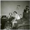 Barbara Gittings typing at home
