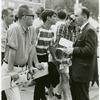 Frank Kameny talking with spectators