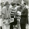 Frank Kameny talking with spectators