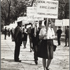 Barbara Gittings in picket line, enlargement
