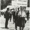 Barbara Gittings in picket line