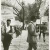 Ernestine Eckstein and unknown gentleman in picket line
