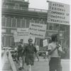 Kay Tobin Lahusen with Homophile Action League--Philadelphia sign