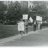 Barbara Gittings and Frank Kameny leading the picket line