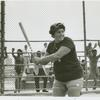 Woman at bat