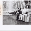 Sylvia Rivera in front of fountain