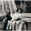 Sylvia Rivera in front of fountain (detail)