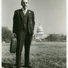 Frank Kameny with briefcase on Capitol Hill