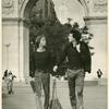 Lige Clarke and Jack Nichols in Washington Square Park, NYC