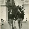 Lige Clarke and Jack Nichols in Washington Square Park, NYC