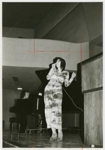 [Liz Torres performing at Columbia University] / Kay Tobin Lahusen
