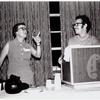 Marshall, speaking, and Steve Wolf at an ALA conference in Dallas