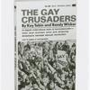 The Gay Crusaders book cover