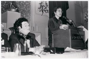 [Dr. H. Anonymous and Barbara Gittings on panel]