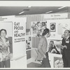 "Kameny talking to psychiatrist at ""Gay, Proud, and Healthy"" display"