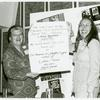 Del Martin (left) and Phyllis Lyon receiving the second annual Gay Book Award from the Task Force on Gay Liberation for their book Lesbian/Woman