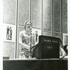 Barbara Gittings at podium during the presentation of the Gay Book Awards