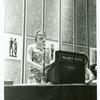 Barbara Gittings at podium during the presentation of the Gay Book Awards