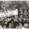 "Crowd with ""Homophiles of Penn State"" sign"