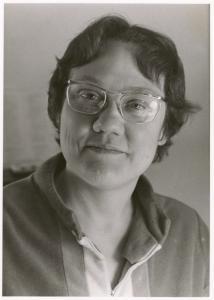 [Barbara Gittings portrait, in robe] / Kay Tobin Lahusen