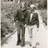 John Lenhart and Gary, walking