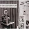 "Gittings at ""Gay Love:  Good Medicine"" booth"