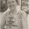 Barbara Gittings with apron