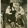 Howard Keel (Billy Bigelow understudy), unidentified woman, Florence Vandamm (photographer) and John Raitt (Billy Bigelow) of Carousel