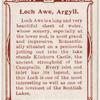 Lock Awe, Argyll.
