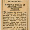 Sleeping Budda [sic] of Anuradhapura (Ceylon).