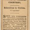 Schooling in Ceylon.