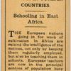 Schooling in East Africa.