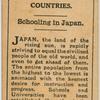 Schooling in Japan.