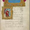 Opening of gospel of John, with title and miniature of John in elaborate borders.