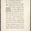 Page of text with 1-line and 3-line gold initials.  Gold initial is decorated with gold.