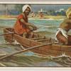 Indian boat with outriggers.