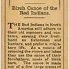 Birch canoe of the Red Indians.