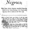 Observations on the inslaving, importing, and purchasing of Negroes; with some advice thereon, extracted from the epistle of the yearly-meeting of the people called Quakers held at London in the year 1748.