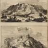 Prospectus Rúderúm Turris Babel, ex parte Septentrionali observatus per Petrum à valle; Prospectus Rúderúm Turris Babel, ex parte Aústialis observatore Petro à valle.