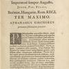 Sacratissimo Leopoldo I. Imperatori semper Augusto ... [Dedicatio]