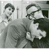 Production still, including Carole Shelley, Fred Willard (bent over), and Vincent Gardenia