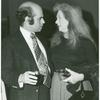 Director Arvin Brown and Geraldine Fitzgerald at opening night