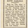 Kitty Carlisle.