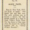 Alice Faye.