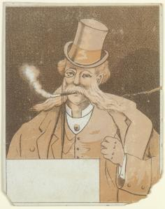 [Man in tophat smoking cigar]