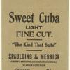 Sweet Cuba Light Fine Cut [tobacco package]