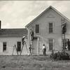 3A. Family farmstead.  Neighbors exchange labour, by an old custom. Nebraska