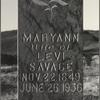 7A. The portrait of Mary Ann Savage was made in 1931. She died five years later. Many years later, in 1953, her gravestone was photographed as it stood in the village graveyard