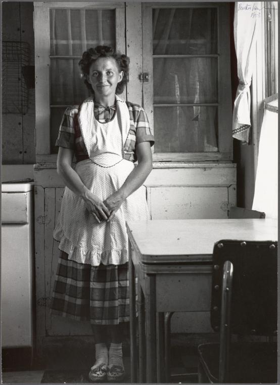 9. Young mother. She lives in a Mormon hamlet...Gunlock, Washington County, Utah. 1953.