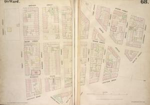 [Plate 68: Map bounded by Bleecker Street, Hudson Street, Gansevoort Street, West 13th Street, Greenwich Avenue, West 12th Street, Seventh Avenue, Perry Street, Charles Street.]